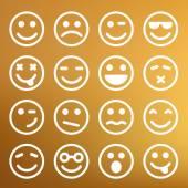 Flat smiley icons — Vetorial Stock