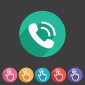 Phone telephone flat icon — Stok Vektör