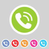 Phone telephone flat icon — 图库矢量图片
