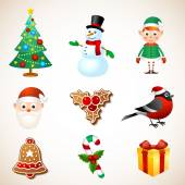 Christmas symbol set — Stock Vector