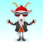 Goat rocker character — Vector de stock