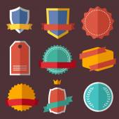 Set of retro vintage labels, signs, badges — Stock Vector
