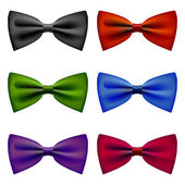 Bow tie colors vintage set — Stock Vector