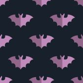 Seamless bat background tile halloween pattern — Vector de stock
