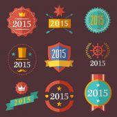 Typographic set vintage labels, signs, badges — Stock Vector