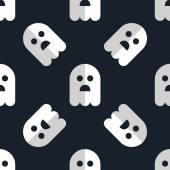 Seamless pattern white ghosts halloween background — Vecteur