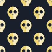 Seamless pattern skulls background  — Stock Vector