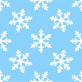 Seamless snowflake pattern winter background — Stock Vector