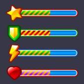 Energy progress, loading game bar set — Stock Vector