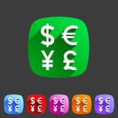 Currency exchange sign icon converter symbol money label — Stock Vector