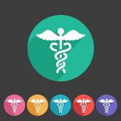 Health medicine pharmacy icon badge flat symbol logo — Stock Vector