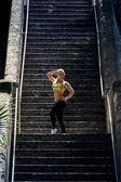 Run the stairs like Rocky — Stock Photo