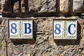Numery ulicy włoskiej wsi — Zdjęcie stockowe