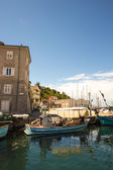 Little port of an Italian village — Stok fotoğraf
