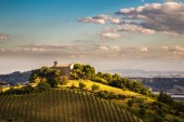 Evening on the hills of Italy — Stock Photo