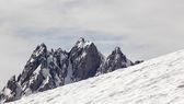 Peak with snow — Stok fotoğraf