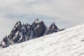 Peak with snow — Stockfoto
