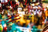 Santa Claus pilots a plane for Christmas — ストック写真