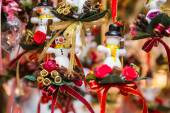 Little snowmans as gifts and decorations for christmas — Foto de Stock