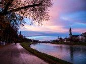 Evening view of Salzburg — Stock Photo