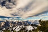 On the peak of the mountain — Stock Photo