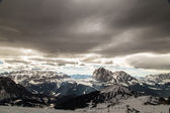 Italian Dolomiti ready for ski season — Stockfoto