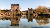 Old castle on the lake — Stock Photo