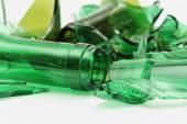 Zerbrochene flaschen — 图库照片