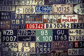 Group of license plates — Stock Photo