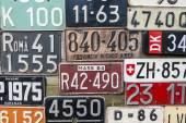 Aged License Plates — Stock fotografie