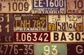 Sepia toned License Plates — Foto Stock