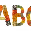 Alphabet made of spices - Letter — Stock Photo #53656091