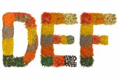 Alphabet made of spices - Letter — Stock Photo