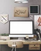 Stylish workplace mockup — Stock Photo