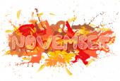 November. — Stock Photo