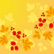 Red - yellow patterns in the Khokhloma style 1. — Stock Photo #60201079