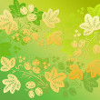 Yellow  patterns in the Khokhloma style on the green background. — Stock Photo #64899889