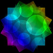 Colorful fractal triangle, digital artwork for creative graphic design — Stock Photo #60470093