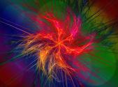 Colorful fractal rings, digital artwork — Stock Photo