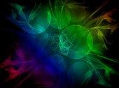 Abstract fractal wreckage, digital artwork  — Stock Photo