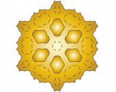 Gold shapes — Stock Photo