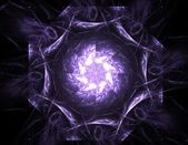 Fractal radial pattern on the subject of science, technology and design — Stock Photo