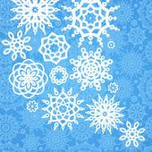 Padrão de inverno com flocos de neve no fundo sem emenda. — Vetor de Stock