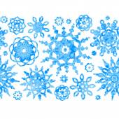Concept winter frame with snowflakes. — Stock Vector