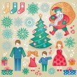 Set of christmas vector elements. — Stock Vector #52710005
