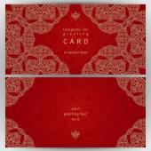 Vintage ornate cards in oriental style. — 图库矢量图片