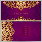 Ornate cards in oriental style. — Stock Vector