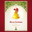 Card with Christmas toy. — Stock Vector #56425909