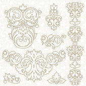 Ornament in Victorian style. — Stock Vector