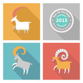 Goat, symbol of 2015. — Stock Vector